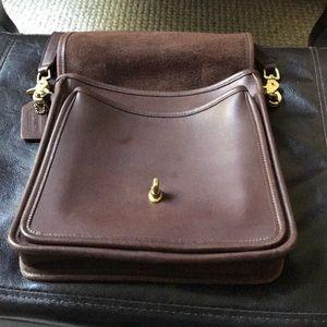 Coach vintage crossbody rich brown leather bag